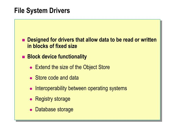 File System Drivers