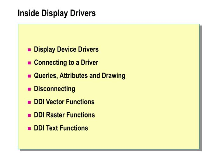 Inside Display Drivers