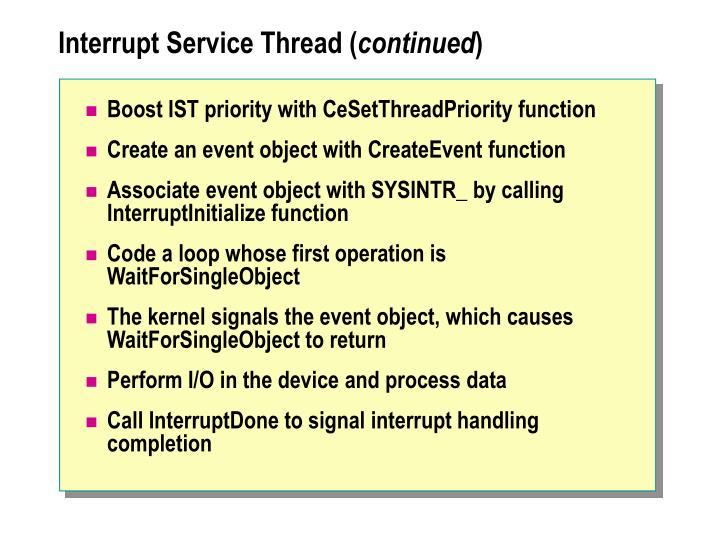 Interrupt Service Thread (