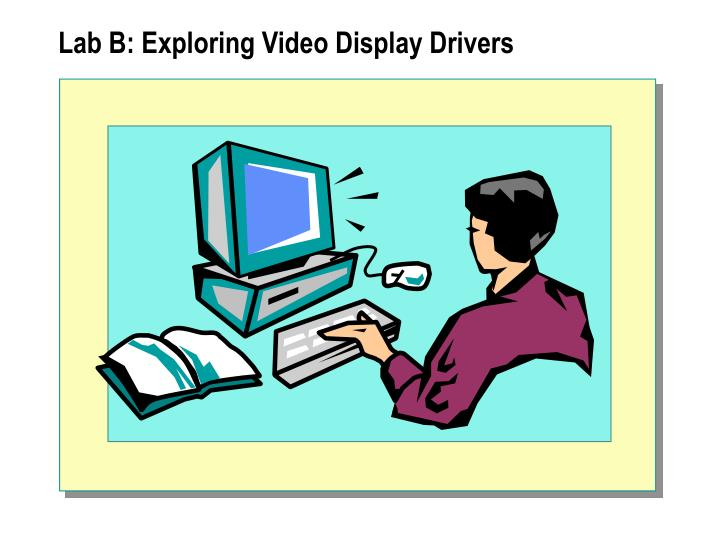 Lab B: Exploring Video Display Drivers