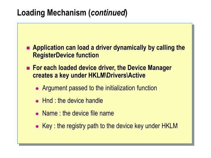 Loading Mechanism (