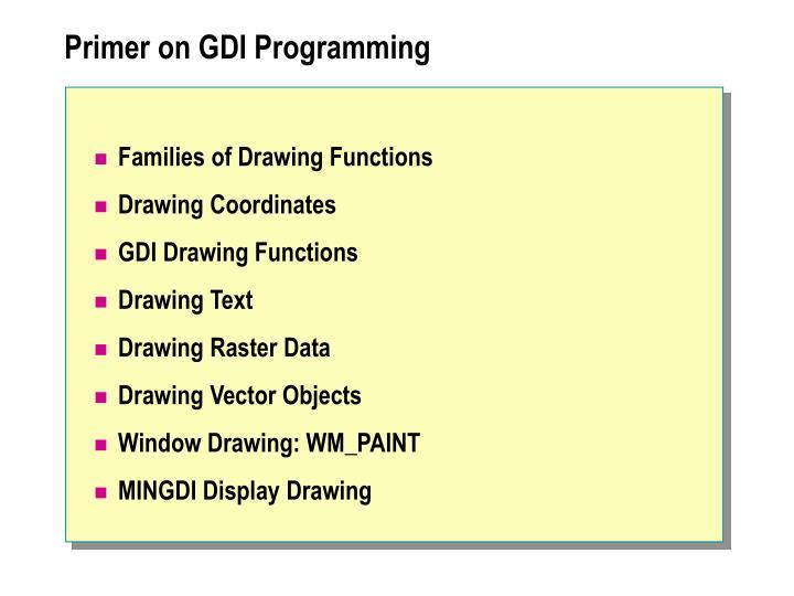 Primer on GDI Programming