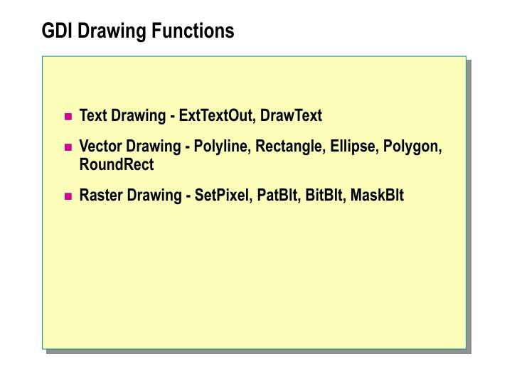 GDI Drawing Functions
