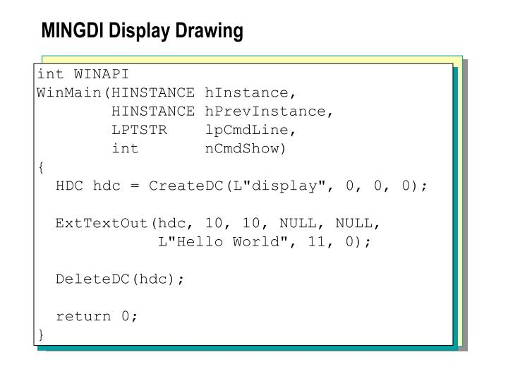 MINGDI Display Drawing