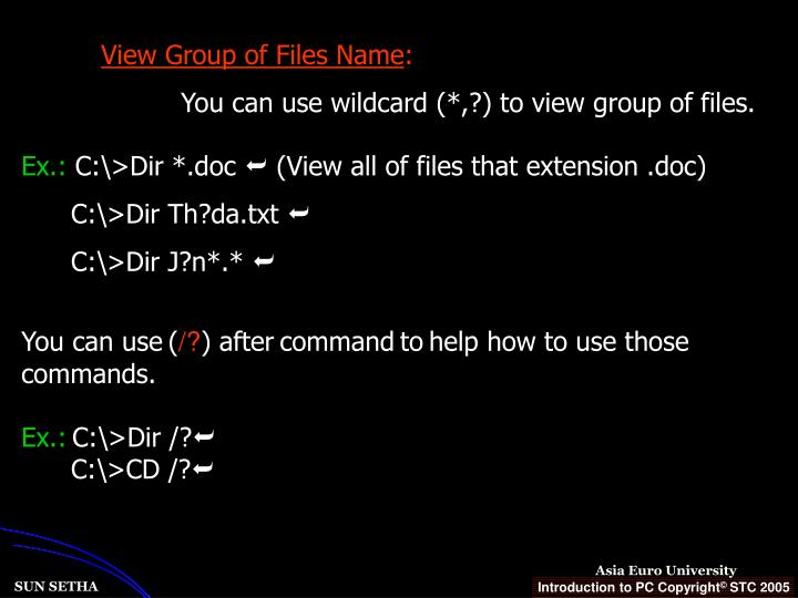 View Group of Files Name