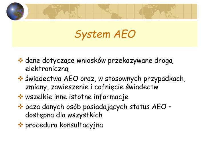 System AEO