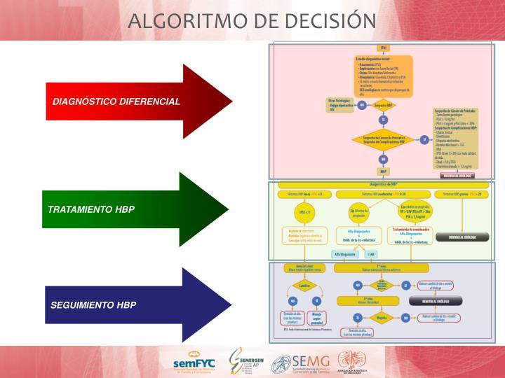 ALGORITMO DE DECISIÓN