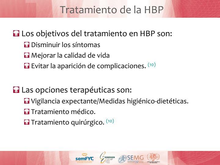 Tratamiento de la HBP