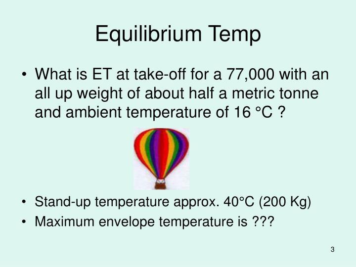 Equilibrium Temp
