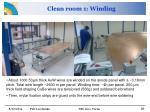 clean room 1 winding