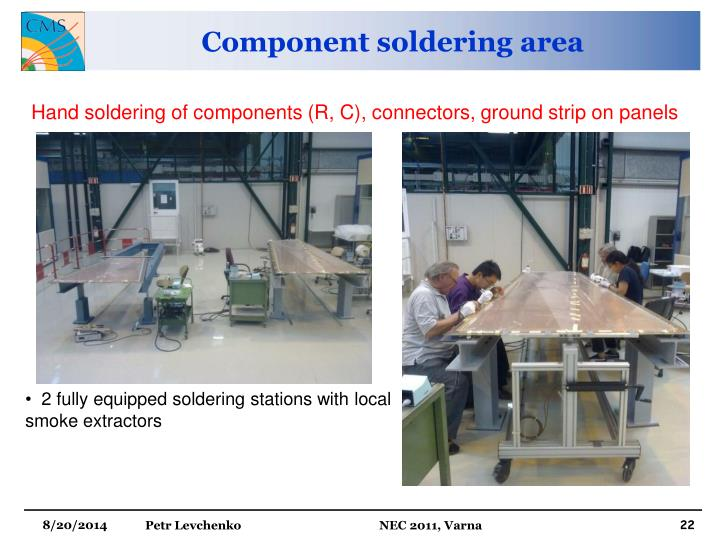Component soldering area