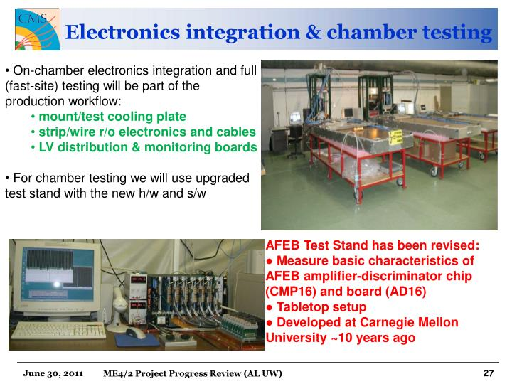 Electronics integration & chamber testing