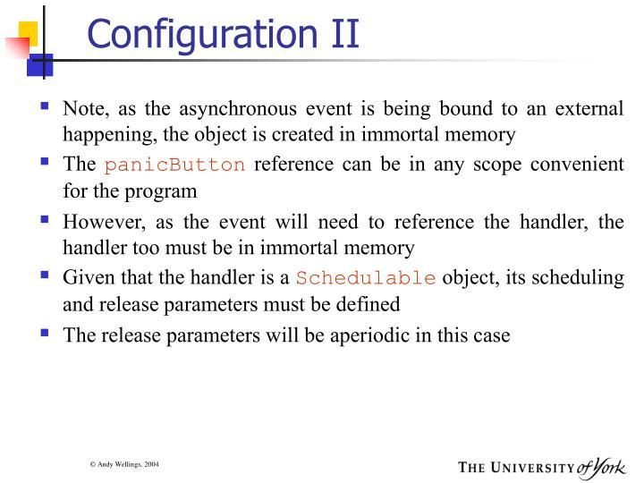 Configuration II