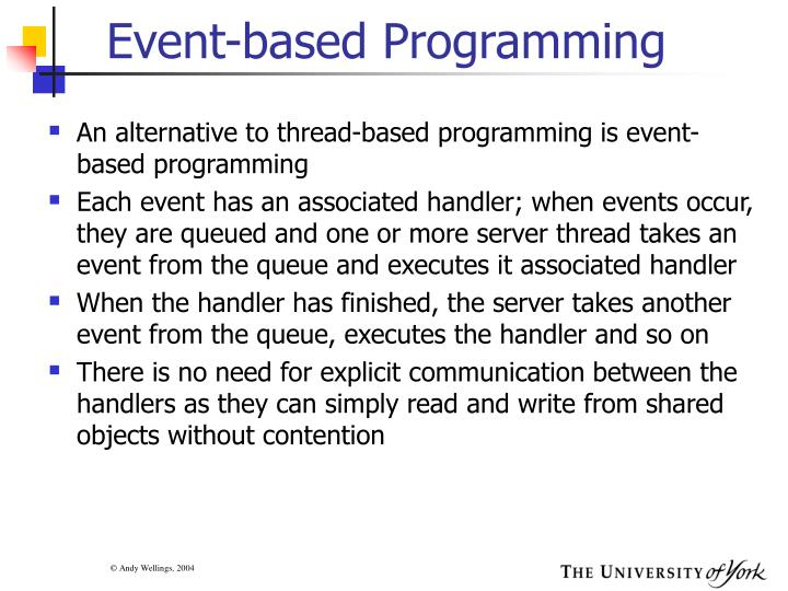 Event-based Programming