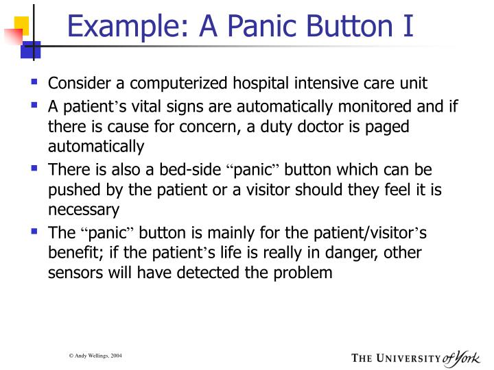Example: A Panic Button I