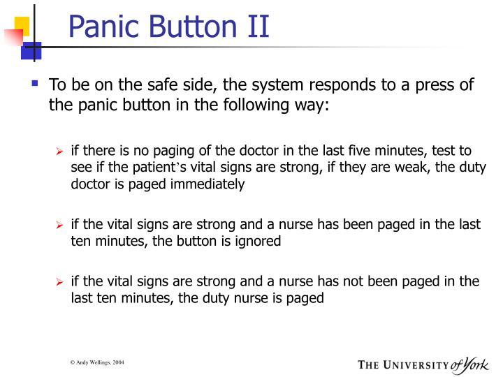 Panic Button II