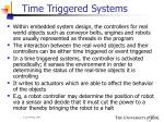 time triggered systems