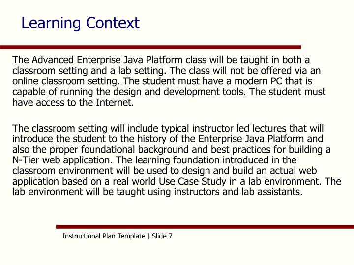 Learning Context