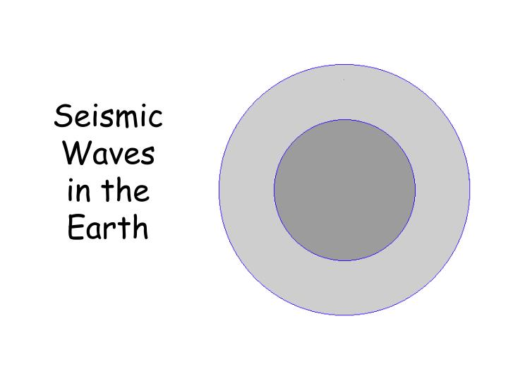 Seismic Waves in the Earth