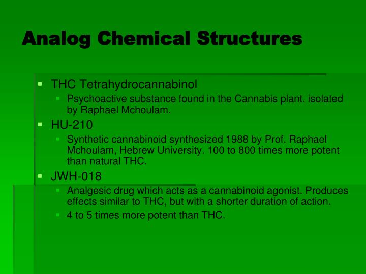 Analog Chemical Structures