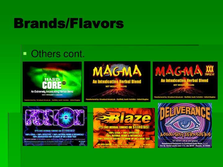 Brands/Flavors