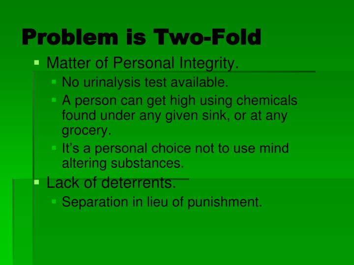 Problem is Two-Fold