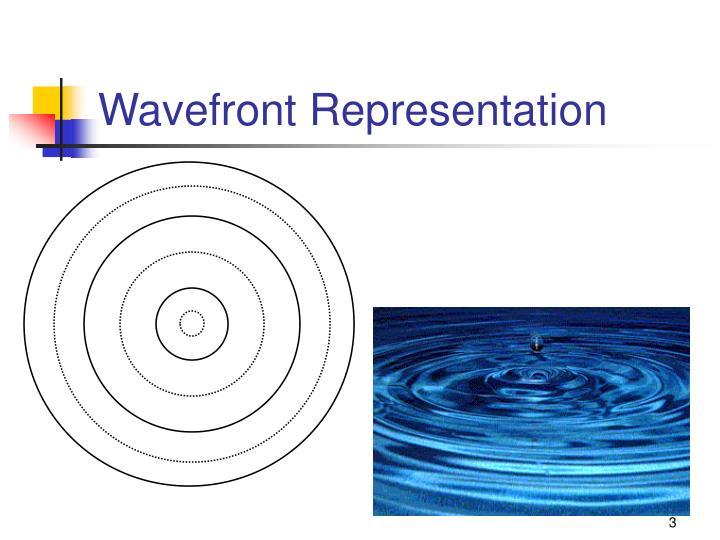 Wavefront Representation