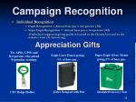 campaign recognition