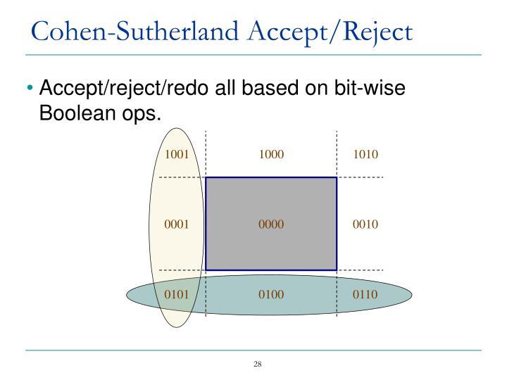 Cohen-Sutherland Accept/Reject