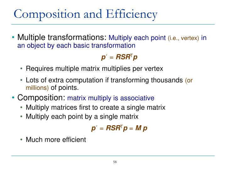 Multiple transformations: