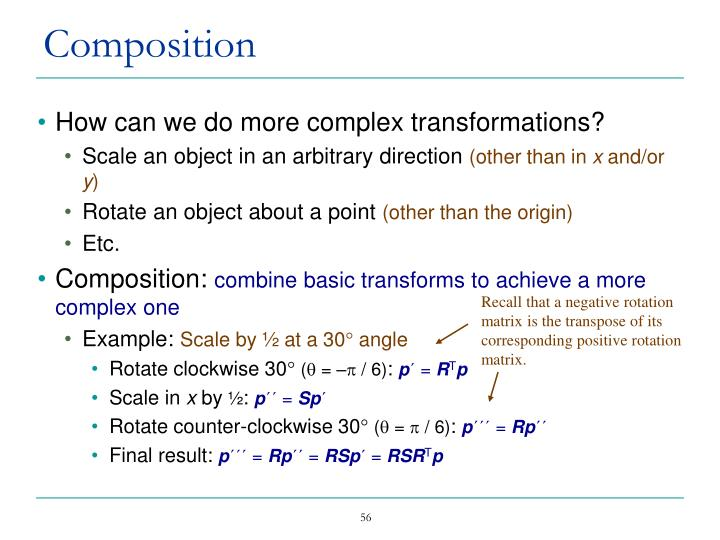 How can we do more complex transformations?