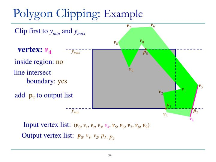 Polygon Clipping: