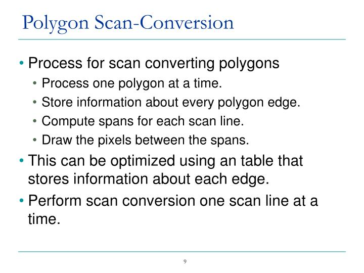 Polygon Scan-Conversion