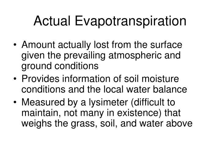 Actual Evapotranspiration