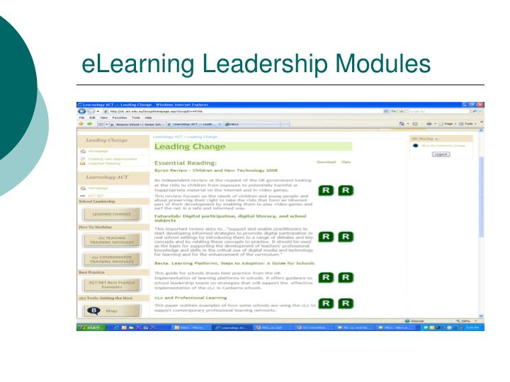 eLearning Leadership Modules