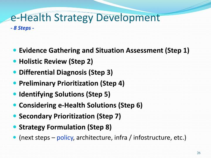 e-Health Strategy Development
