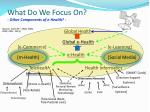 what do we focus on other components of e health