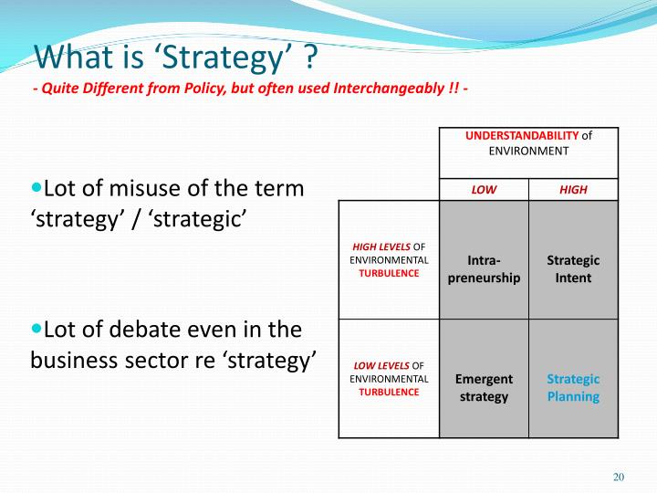 What is 'Strategy' ?