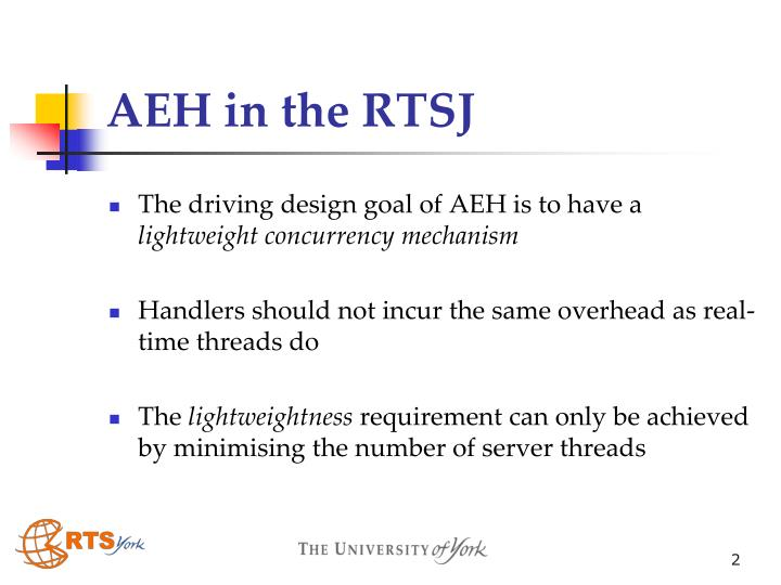 AEH in the RTSJ