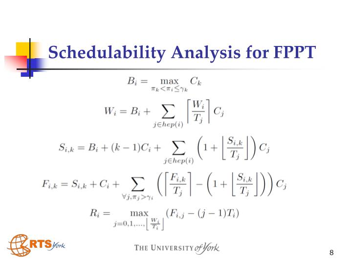 Schedulability Analysis for FPPT