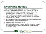exchange notice