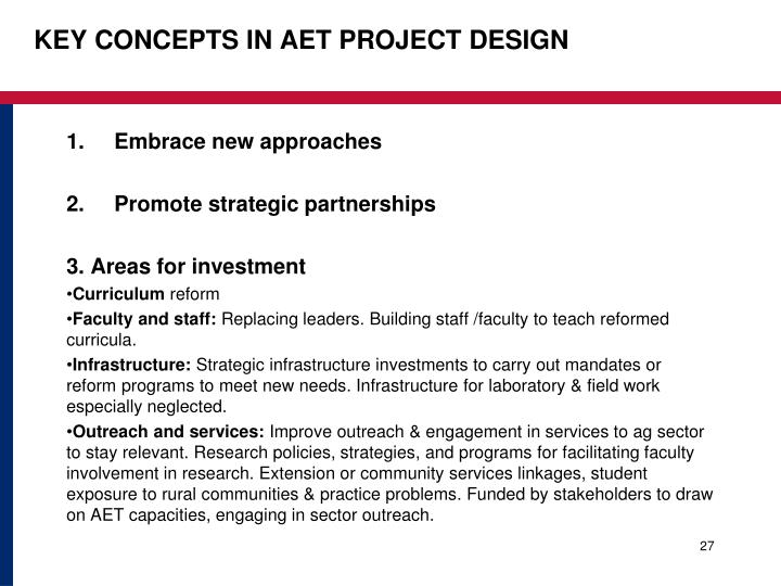 KEY CONCEPTS IN AET PROJECT DESIGN
