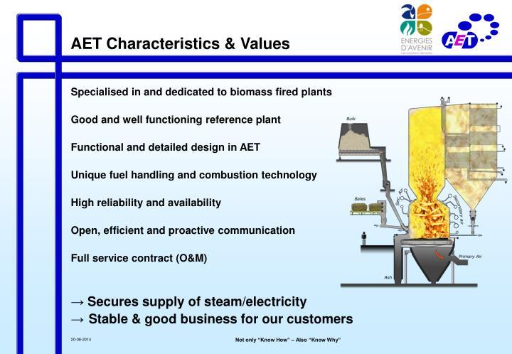 AET Characteristics & Values
