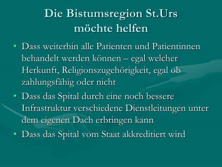 Die Bistumsregion St.Urs