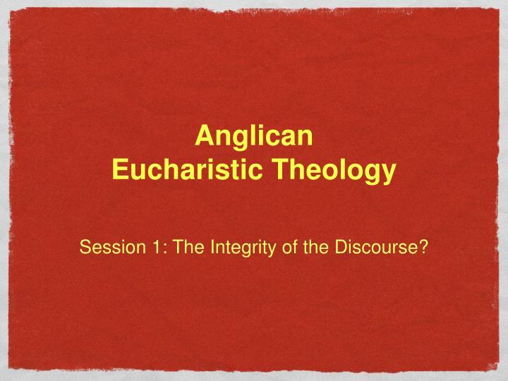 anglican eucharistic theology