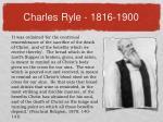 charles ryle 1816 1900