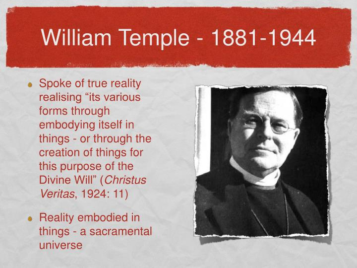 William Temple - 1881-1944