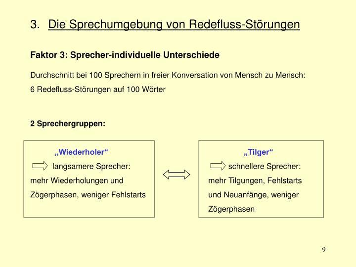 2 Sprechergruppen: