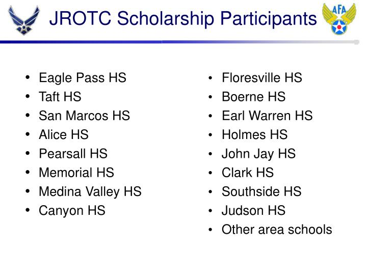 JROTC Scholarship Participants