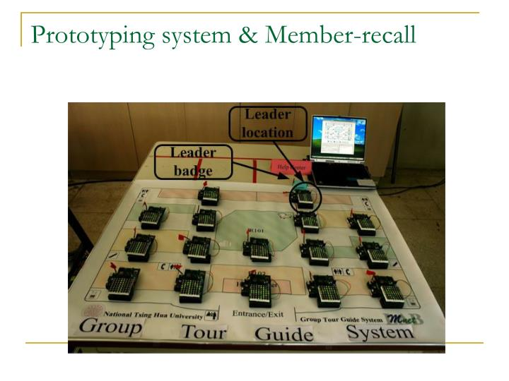 Prototyping system & Member-recall